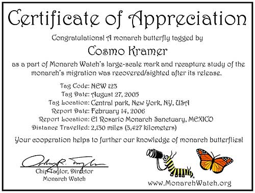 Monarch watch migration tagging tag recoveries in order to view complete and print the pdf certificates you will need the free adobe reader software which may already be installed on your computer yelopaper Image collections